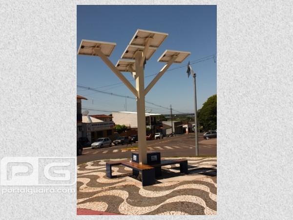 Guaíra - Árvore Digital Solar será entregue oficialmente na quinta-feira