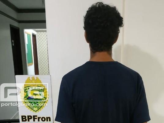 Guaíra - BPFron apreende homem com pistola de pressão e uma luneta