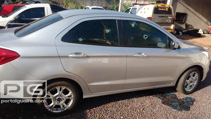 Terra Roxa - Após troca de tiros, PM recupera veículo roubado em Francisco Alves