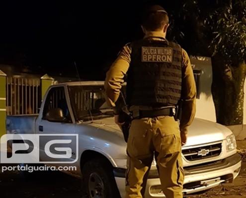 Guaíra - BPFron recupera veículo furtado em Campo Mourão